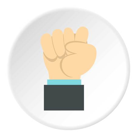 extremity: Clenched fist icon. Flat illustration of clenched fist vector icon for web