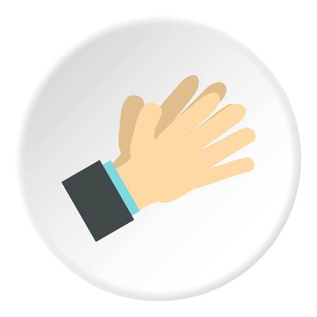 control of body movement: Open palm icon. Flat illustration of open palm vector icon for web