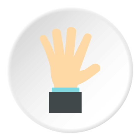 control of body movement: Palm up icon. Flat illustration of palm up vector icon for web