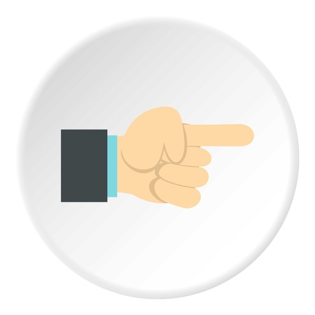 extremity: Gesture with index finger icon. Flat illustration of gesture with index finger vector icon for web