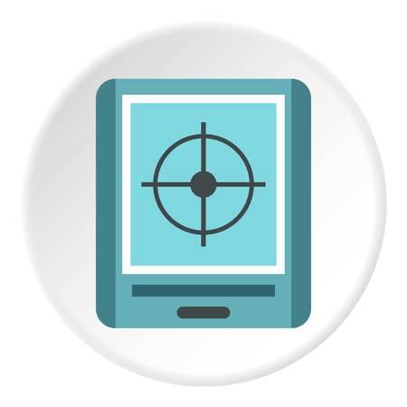 gps navigator: GPS navigator icon. Flat illustration of GPS navigator vector icon for web