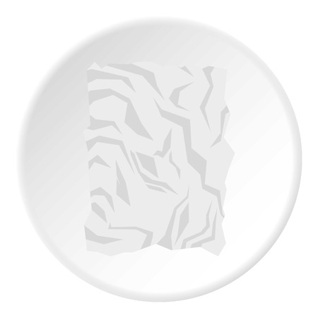 wasted: Crumpled paper icon. Flat illustration of crumpled paper vector icon for web design
