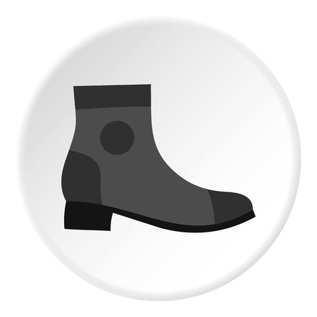 foot gear: Grey boot icon. Flat illustration of shoe vector icon for web design Illustration