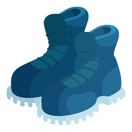 Pair of blue boots icon. Cartoon illustration of pair of boots vector icon for web Illustration