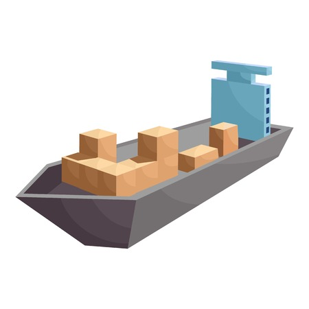 water carrier: Cargo ship icon. Cartoon illustration of cargo ship vector icon for web Illustration