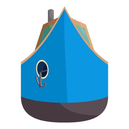 Ship icon. Cartoon illustration of ship vector icon for web