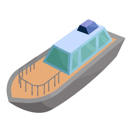 illuminator: Powerboat icon. Cartoon illustration of powerboat vector icon for web