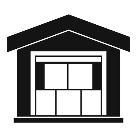 warehouse building: Warehouse building icon. Simple illustration of warehouse building vector icon for web