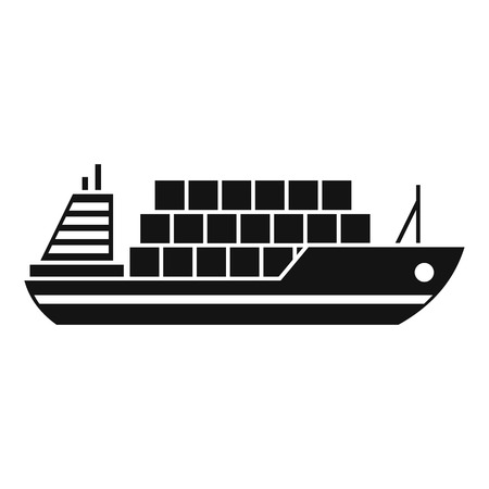 Cargo Ship Icon Simple Illustration Of Vector Icon For Web Royalty