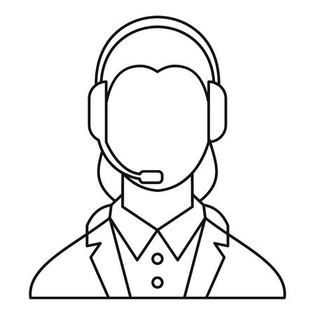dispatcher: Dispatcher consultant icon. Outline illustration of dispatcher consultant vector icon for web
