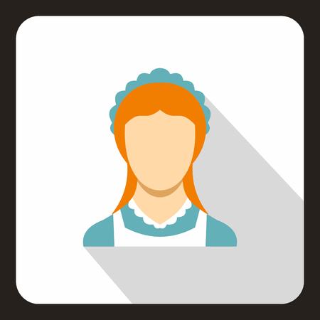 Pucelle icône. illustration plat de vecteur icône web Vecteurs
