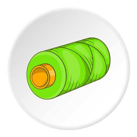 seamstress: Spool icon. Flat illustration of spool vector icon for web