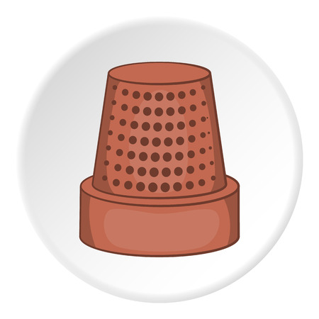 thimble: Thimble icon. Flat illustration of thimble vector icon for web Illustration