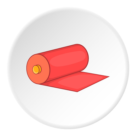 sewer: Roll of material icon. Flat illustration of roll of material vector icon for web