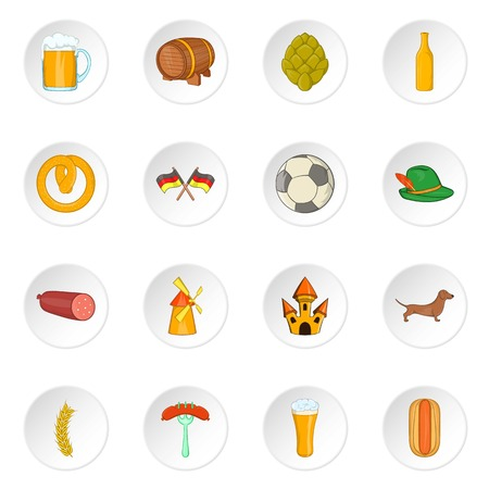 germanic: Germany icons set. Cartoon illustration of 16 germany vector icons for web