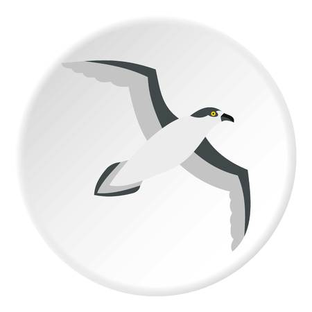 mew: Seagull icon. Flat illustration of seagull vector icon for web design