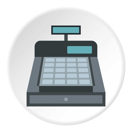 Kassensymbol. Flache Darstellung der Kassen Vektor-Symbol für Web-Design