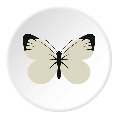 White butterfly icon. Flat illustration of butterfly vector icon for web design Illustration