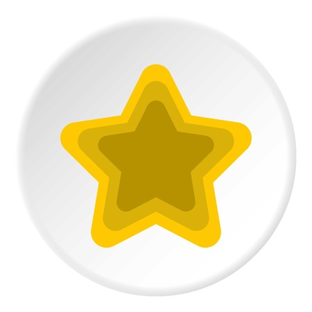 pointed to: Geometrical figure of five pointed star icon. Flat illustration of geometrical figure of five pointed star vector icon for web