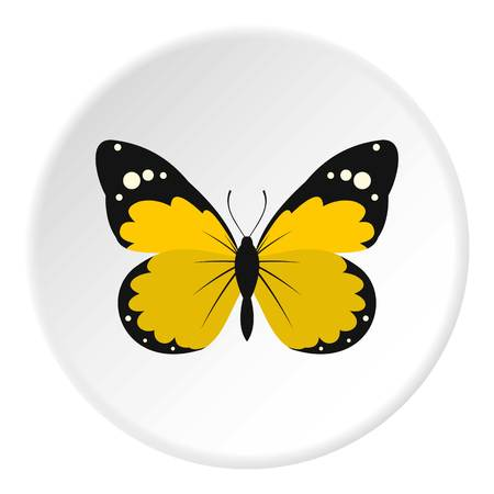 hairy legs: Detailed yellow butterfly icon. Flat illustration of butterfly vector icon for web design