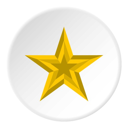 Five pointed star icon. Flat illustration of five pointed star vector icon for web Illustration