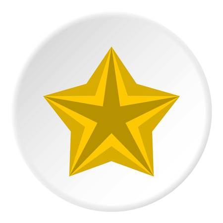 Convex star icon. Flat illustration of convex star vector icon for web Illustration