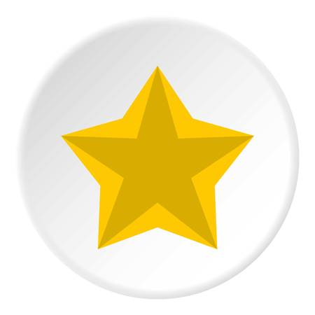 five star: Convex five pointed celestial star icon. Flat illustration of convex five pointed celestial star vector icon for web