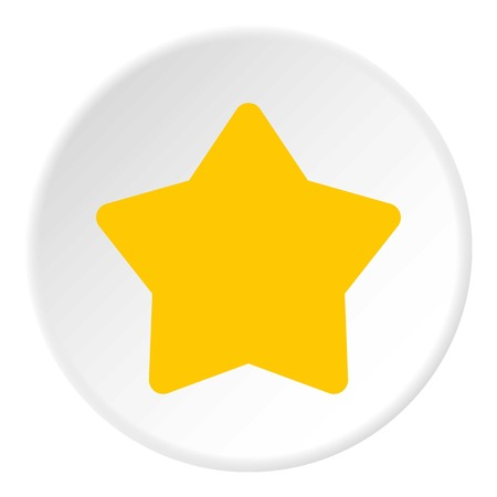 pointed to: Five pointed yellow star icon. Flat illustration of five pointed yellow star vector icon for web