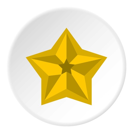 five star: Five pointed celestial star icon. Flat illustration of five pointed celestial star vector icon for web