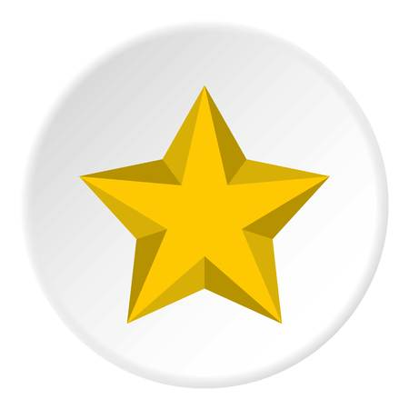 pointed to: Five pointed convex star icon. Flat illustration of five pointed convex star vector icon for web Illustration