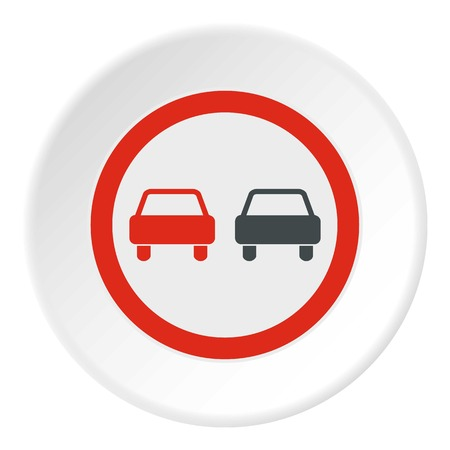 two lane highway: Sign overtaking icon. Flat illustration of sign overtaking vector icon for web