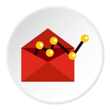 configuration: E-mail configuration icon. Flat illustration of e-mail configuration vector icon for web
