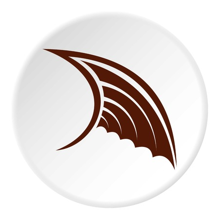 Brown birds wing icon. Flat illustration of brown birds wing vector icon for web Illustration