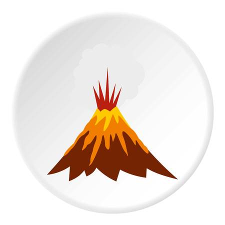 Eruption of volcano icon. Flat illustration of eruption of volcano vector icon for web