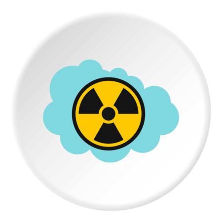 irradiation: Radioactive air icon. Flat illustration of radioactive air vector icon for web