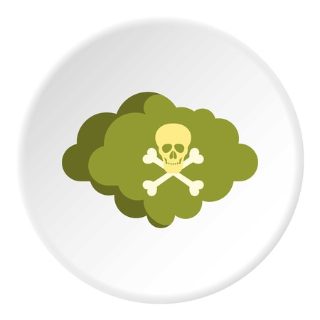 irradiation: Deadly air icon. Flat illustration of deadly air vector icon for web