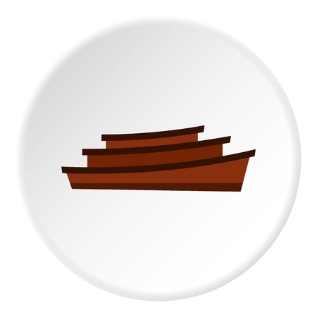 Wooden boats icon. Flat illustration of wooden boats vector icon for web Illustration