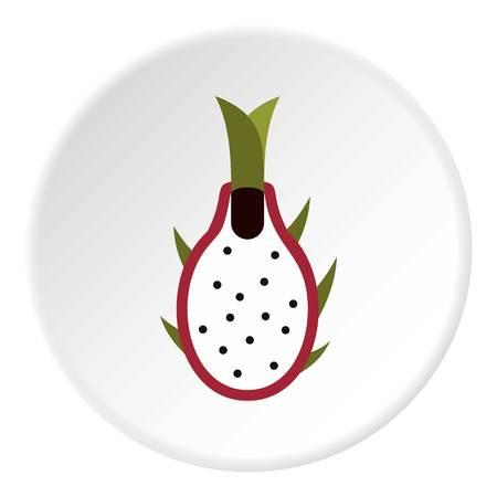 Dragon fruit icon. Flat illustration of dragon fruit vector icon for web Illustration