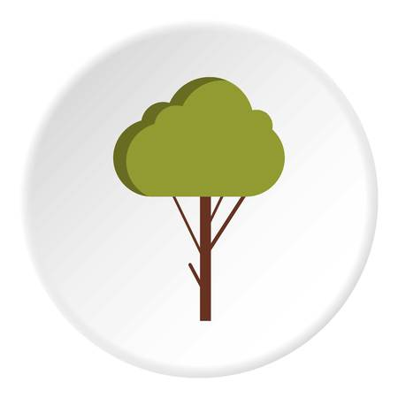 fluffy: Fluffy tree icon. Flat illustration of fluffy tree vector icon for web