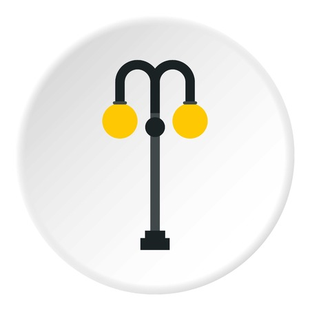 Street lamp icon. Flat illustration of street lamp vector icon for web