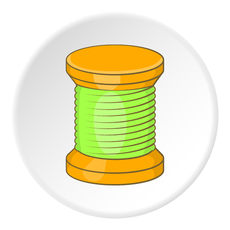 spool: Spool icon. Flat illustration of spool vector icon for web
