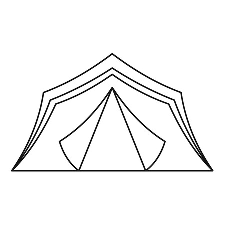 refuge: Tourist tent icon. Outline illustration of tourist tent vector icon for web Illustration