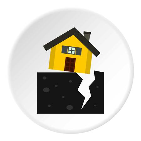 fault: Fault of earth icon. Flat illustration of fault of earth vector icon for web Illustration