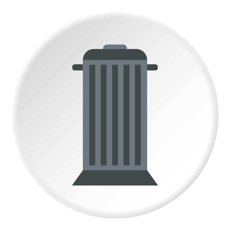 Street trash icon. Flat illustration of street trash vector icon for web