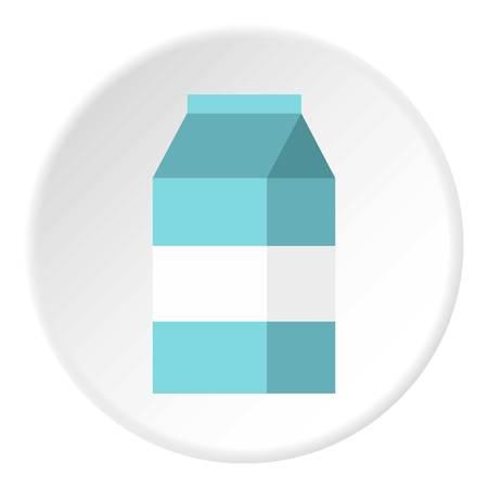 Milk box icon. Flat illustration of milk box vector icon for web