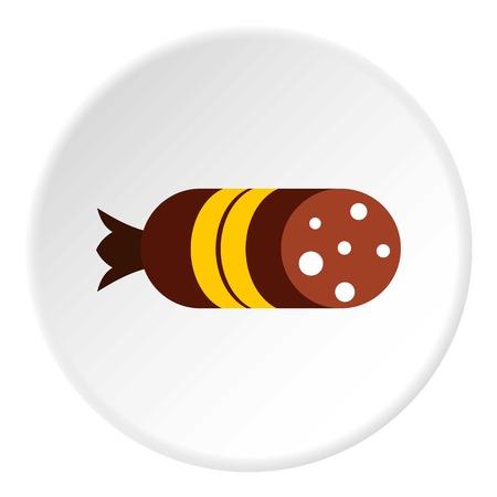 Salami icon. Flat illustration of salami vector icon for web