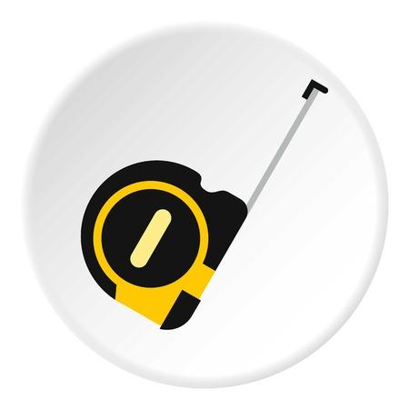 Construction roulette icon. Flat illustration of construction roulette vector icon for web Illustration