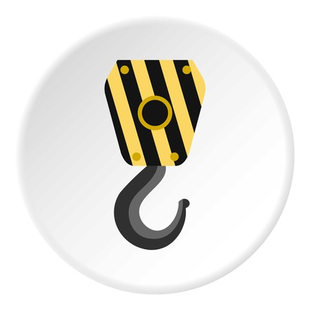 lifting hook: Lifting hook icon. Flat illustration of lifting hook vector icon for web