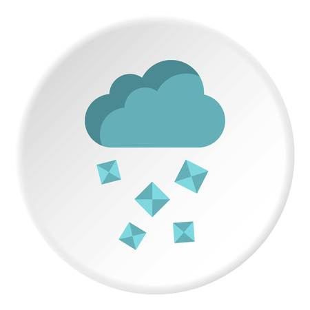 hail: Clouds and hail icon. Flat illustration of clouds and hail vector icon for web