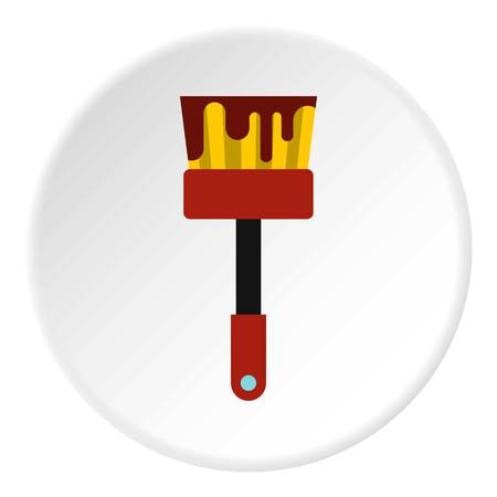 Paint brush icon. Flat illustration of paint brush vector icon for web